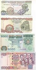 A SAISIR    LOT DE  4  X BILLETS     GHANA    NEUF  !!!!