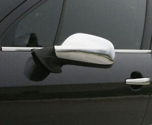 Chrome Wing Mirror Trim Set Covers To Fit Peugeot 407 (2004-10)