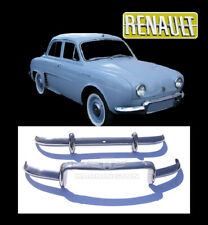Brand new Renault Dauphine stainless steel bumpers
