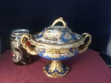 Antique Cabinet Tureen & Cover Hand painted Chamberlains Worcester Derby  Spode