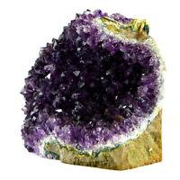 Natural Amethyst Druzy Quartz Geode Cluster Crystal Healing Specimen Decor US