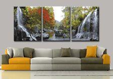 40x50cm Triptychon Malen nach Zahlen DIY Wasserfall Malerei Dekor Rahmenlos 551