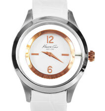 NEW $135 Kenneth Cole New York Womens Transparency Stainless Steel Watch