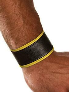 Colt Studio Lederarmband Leder Armband Schwarz/Gelb Herren Leather