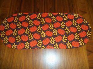New Fall/Autumn Pumpkins-Sm Table Runner-Toilet Tank Topper-Shelf-Dresser Scarf