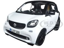 2015 SMART FOR TWO BLACK/WHITE 1/18 DIECAST MODEL CAR BY NOREV 183430