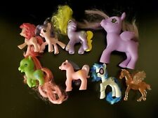 Vintage My Little Pony horse character toy lot of 8