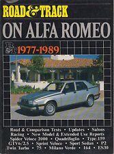 Alfa Romeo Spider S2 S3 GTV6 2.5 Alfetta 75 164 y ES30 1977-1989 libro pruebas de carretera