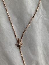 Michael Kors MKJ6930791 Necklace Faux Rose Gold Rhinestone Star