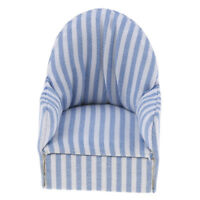 1:12 dollhouse miniature furniture stripe sofa chair for bed room living room NT