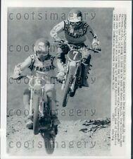 1977 Brian Myerscough Brian Wargo Motocross Race Mission Viejo CA Press Photo