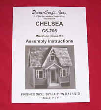 Dura-Craft *CHELSEA* CS-705 Dollhouse Instructions *OFFERING DIGITAL DELIVERY*