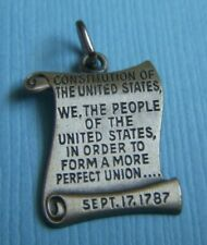 Constitution sterling charm Vintage United States