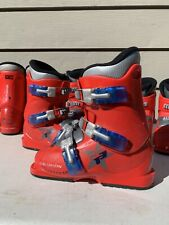 Salomon T2 - T3 Youth Alpine Downhill Ski Boots Solid red - Good Condition
