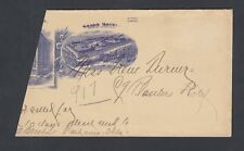USA 1890's GRAND HOTEL & PLANTERS HOTEL PARTIAL LETTERHEAD & COVER ST LOUIS MO