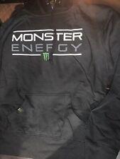 Monster Energy Hooded Sweatshirt Hoodie Med Black -Mon Sergeant Pullover  - NEW