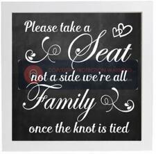 Por favor tome asiento no un lado todos somos familia una vez que el nudo es atado-Adhesivo