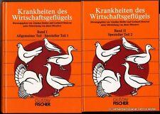 Krankheiten des Wirtschaftsgeflügels. Bd. 1 + Bd. 2 v. Günther Heider 1992