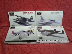 Lot of 4 rare Spec Cast plane model Falcon mustang beechcraft ww2 fighter gift