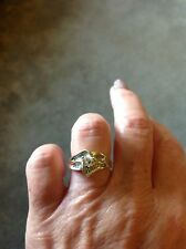 GENUINE 14CT GOLD HEART CUT 0.33 CARAT DIAMOND RING CLARITY SI1 & AUTH. CERT.