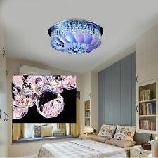 60Cm Led Crystal Leaf Chandelier Contemporary Ceiling Pendant Light Fixture Us