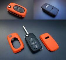 AUDI Clé Télécommande orange flip housse peau coque sac de protection Cap fob Hull -