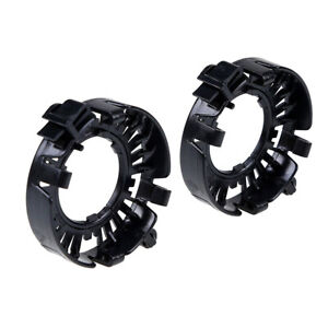 2x D1S HID Xenon Bulb Adapter Headlight Retainer Clip Ring Holder for BMW Jaguar