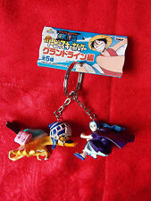 "NEW! ONE PIECE BIBI & CARUE Twin Keyring 2.5"" 6cm PVC SOLID FIGURE / UK DESPATCH"