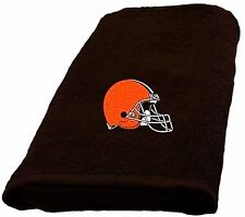 Cleveland Browns Embroidered Hand Towel measures 16 x 26 inches