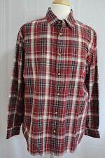 Woolrich Woolen Mills Men's Long Sleeve Button Front Shirt size L New