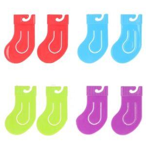 8x SOCK WASHING LINE CLIPS Pair Organiser Grip Peg Drying Hang Laundry Clothes