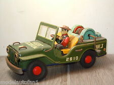 Winch Jeep 2810 W.J van Nomura Toys Japan Tinplate *15955