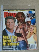 WWE MAGAZINE RAW DECEMBER 2003 WRESTLING MIKE TYSON VINCE MCMAHON COVER WWF