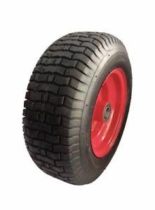 "16"" Wheelbarrow Wheel Wide Tyre Pump Up Barrow 6.50 X 8, 25.4mm Bore"