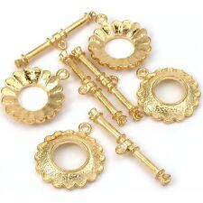 Bali Flower Toggle Clasp Gold Plated 24.5mm Approx 4