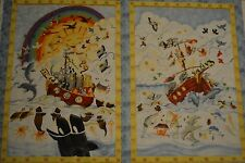 RAINY DAYS PANEL BY SOUTH SEAS NEW QUILT COTTON (2) NOAH'S ARK MOTIF PER 3/4 YD