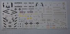 1/48ème  DECALS pour AV-8B HARRIER  -  REVELL MONOGRAM  -  NEUF