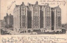 Postcard Whittier Hall Lowell And Emerson Apartments New York City NY 1904