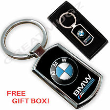 Bmw voiture porte-clés key chain ring fob métal chromé neuf