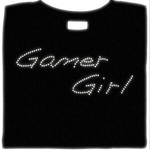 Gamer Girl Shirt, Rhinestone, Sexy, Gaming, Gamer, Small - 5X, Shirt