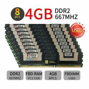 Kingston 32GB Kit (8x 4GB) DDR2 PC2-5300F 667MHz 2Rx4 FB-DIMM Server FBD Memory