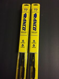 "2x 19"" ANCO 31-19 WINDSHIELD WIPER BLADE 31 SERIES 19"" BLACK METAL FRAME"
