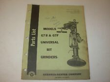 Gardner Denver G7B & G7F Bit Grinder Parts Manual