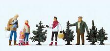 Preiser 10627 H0 Figuren Weihnachtsbaumverkauf