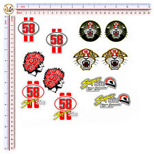 adesivi marco simoncelli auto moto casco sticker 12 pezzi helmet tuning