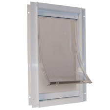 15 in. x 20 in. Super Large Deluxe Aluminum Frame Pet Door | Ideal Flap Dog with