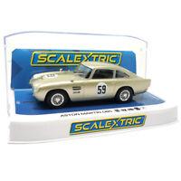 Scalextric C4166 Aston Martin DB5 White Gold AMOC Brands Hatch '19 1/32 Slot Car
