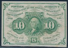 Fr1242 10¢ Xf+ 1St Issue Fractional Currency Straight Edges W/ Monogram Bt711
