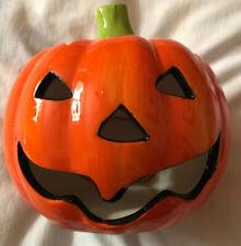 Halloween Pumpkin Ceramic Tea Light Candle Holders
