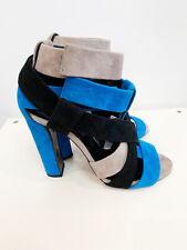 Designer BNWB Pierre Hardy Size 39 Tricolour Suede Women's Heels